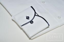Camicia puro cotone, particolare del polsino